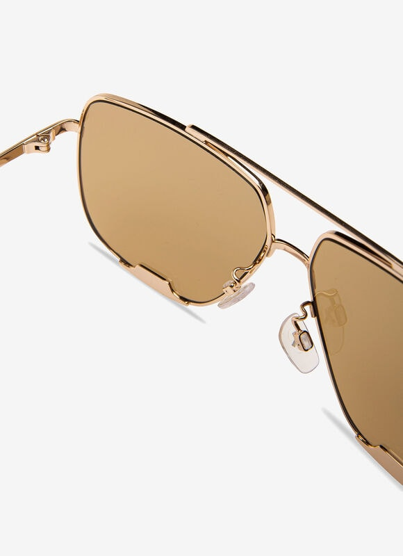 BROWN METAL Sunglasses - Bally