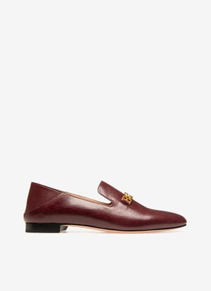 BURGUNDY BOVINE Shoes - Bally