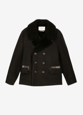 BLACK MIX WOOL/POLY Outerwear - Bally