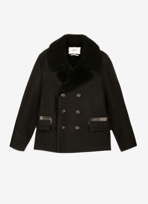 BLACK MIX WOOL/POLY Jackets - Bally