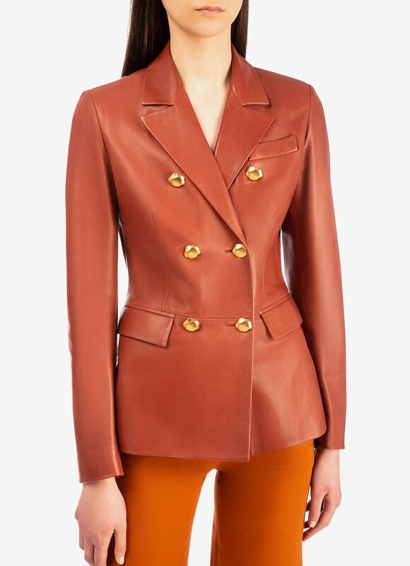 ORANGE LAMB Cuir - Bally