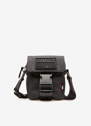 GRIS FABRIC Sacs messenger - Bally