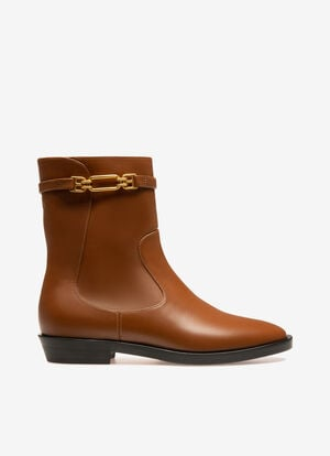 MARRON CALF Bottes - Bally