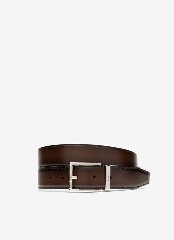 BROWN BOVINE SPLIT Belts - Bally