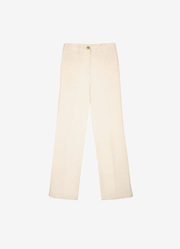 WHITE COTTON Pants - Bally