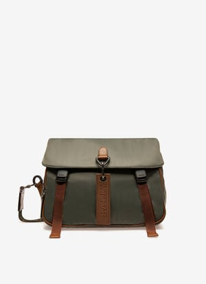 GREY NYLON Messenger Bags - Bally
