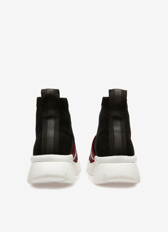 NOIR MIX POLYESTER Souliers - Bally