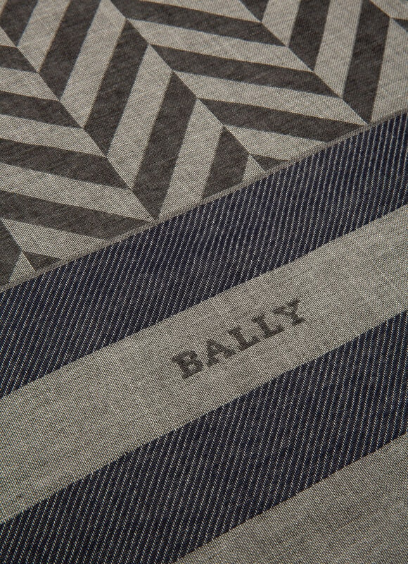 GRIS MIX WOOL Écharpes - Bally
