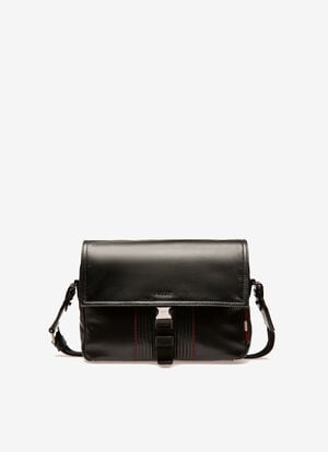 NOIR CALF Sacs messenger - Bally