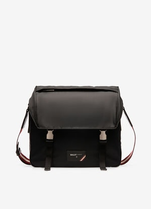 BLACK NYLON Messenger Bags - Bally