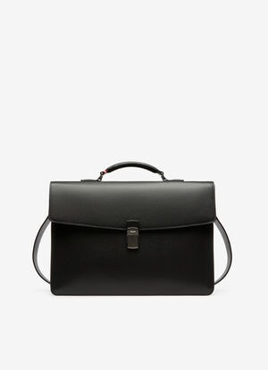 NOIR BOVINE Porte-documents - Bally