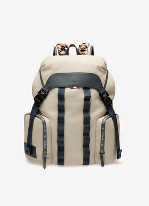 WHITE BOVINE Backpacks - Bally