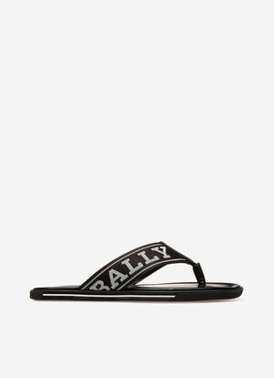 NOIR SYNTHETIC Sandales et Mules - Bally