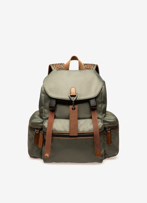 GREY NYLON Backpacks - Bally