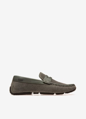 GREY CALF SUEDE Drivers - Bally