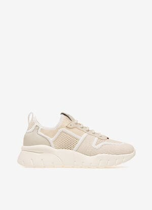 WHITE MIX POLYESTER Sneakers - Bally