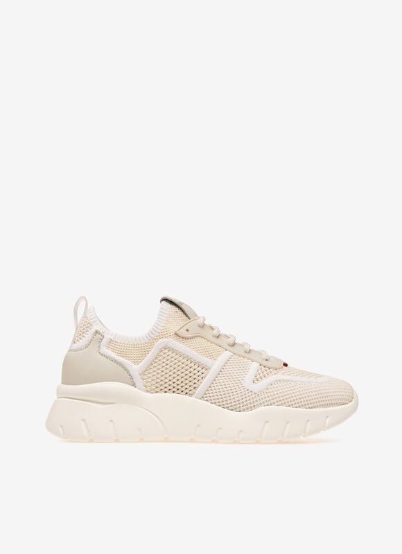 BLANC MIX POLYESTER Sneakers - Bally