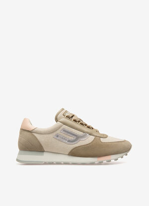 NEUTRAL MIX COTTON Sneakers - Bally