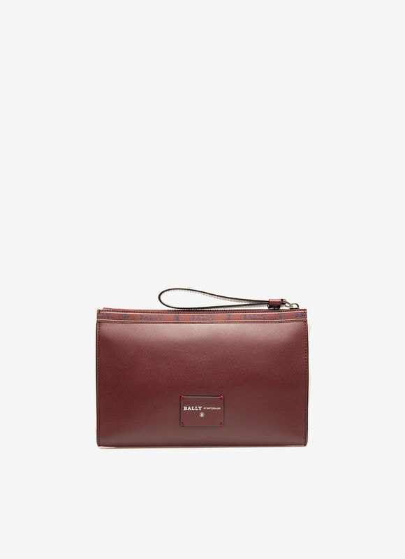 BURGUNDY BOVINE Clutches and Portfolios - Bally
